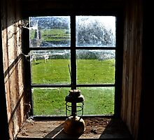 Old Lantern in the Stables in 1943 , Tyneham Dorset UK  by lynn carter