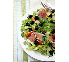 Blackberry Prosciutto Salad Photographic Print