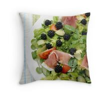 Blackberry Prosciutto Salad Throw Pillow