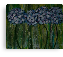 Hydrangeas and Stripes #2 Canvas Print