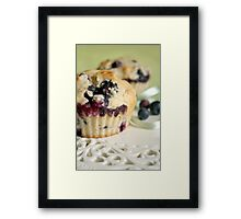 Blueberry muffins Framed Print