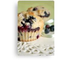 Blueberry muffins Canvas Print