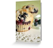 Blueberry muffins Greeting Card