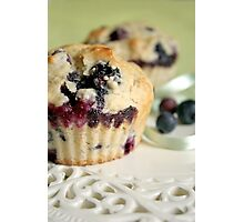 Blueberry muffins Photographic Print