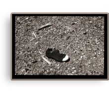 Abandoned Mine Site With Old Work Boot Canvas Print