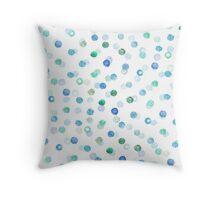 Polka blue Throw Pillow