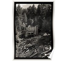 Abandoned Mine Structure And Debris Pile Poster