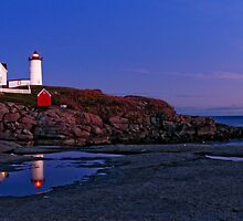 Nubble Lighthouse After Sunset- Cape Neddick, ME by Jason Gendron