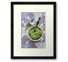 Wild rocket pesto Framed Print