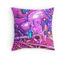 The Pink Biker's Club Throw Pillow