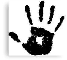 Black Hand - No Racism Canvas Print