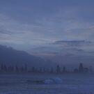 Blue morning with sea mist by Juilee  Pryor