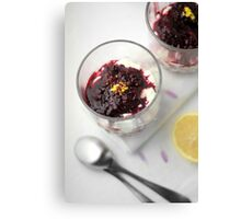 Berry cheesecake Canvas Print