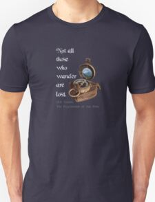Not all Those who Wander are Lost, Tolkien, LOTR (plain background) T-Shirt