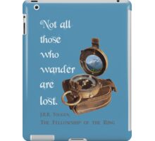 Not all Those who Wander are Lost, Tolkien, LOTR (plain background) iPad Case/Skin