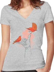 Come When I Call You (Come Home Soon) Women's Fitted V-Neck T-Shirt