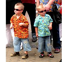 Rhinestone brothers rockabilly hepcats! Photographic Print
