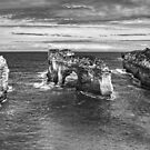 The Arch - Loch Ard Gorge Mono HDR by peterperfect