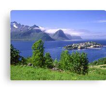 Beautiful island in Norway Canvas Print