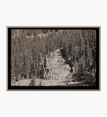 Abandoned Mine Structure With Collapsed Shaft Photographic Print