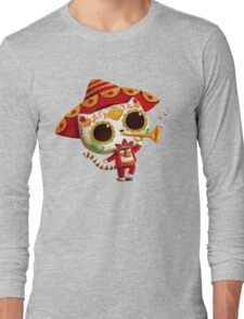 The Day of the Dead Cute Cat El Mariachi Long Sleeve T-Shirt