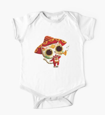 The Day of the Dead Cute Cat El Mariachi One Piece - Short Sleeve