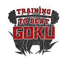 Training to Beat Goku | Dragon Ball Photographic Print