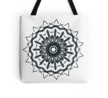 Metallic blue-grey on white Picasso Kalaeidoscope Tote Bag