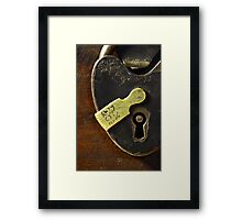Heart-Shaped Lock Framed Print