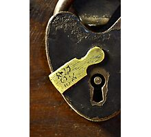 Heart-Shaped Lock Photographic Print