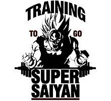 Training to go Super Saiyan | Dragon Ball Photographic Print