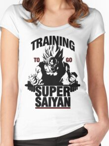 Training to go Super Saiyan | Dragon Ball Women's Fitted Scoop T-Shirt