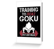 Training to Beat Goku (or atleast Krillin) | Dragon Ball Greeting Card