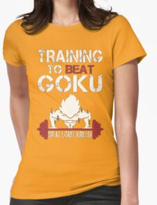 Training to Beat Goku (or atleast Krillin) | Dragon Ball Womens Fitted T-Shirt