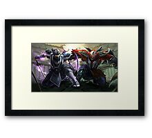 League of Legends Zed/Shen UHQ Poster Framed Print