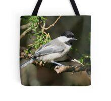 Chickadee Up Close Tote Bag