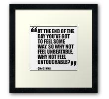 Conor McGregor - Quotes [Unbeatable] Framed Print