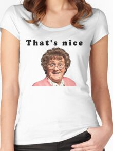 That's  nice Women's Fitted Scoop T-Shirt