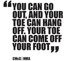 Conor McGregor - Quotes [Toe] Photographic Print