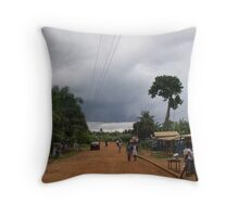 Typical Day in West Africa Throw Pillow