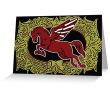 Pegasus - Cigar Label Greeting Card