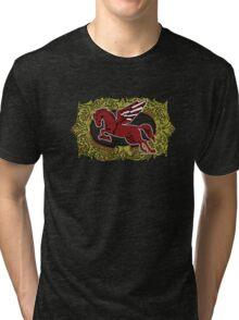 Pegasus - Cigar Label Tri-blend T-Shirt