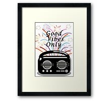 Good vibes only print. Framed Print