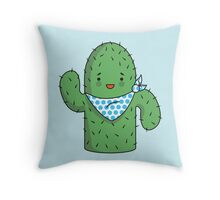 Mr J.G Cactus (sky) Throw Pillow