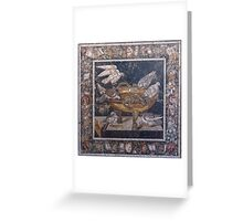 The Drinking Doves mosaic Greeting Card