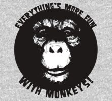 Everything's More Fun With Monkeys! (V2) One Piece - Long Sleeve