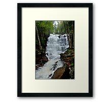 Bear Creek Falls Flowing Fast Framed Print