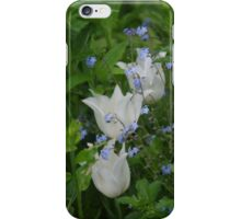 Tulips and Forget-Me-Nots iPhone Case/Skin