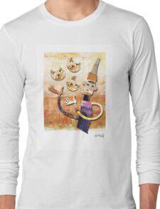 Cat Juggler Long Sleeve T-Shirt