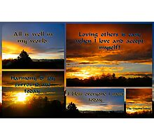 Morning Affirmations featured in The World As We See It or as we missed it. Photographic Print